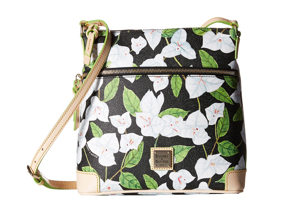 Dooney & Bourke - Bougainvillea Crossbody (Black w/ Natural Trim) Cross Body Handbags