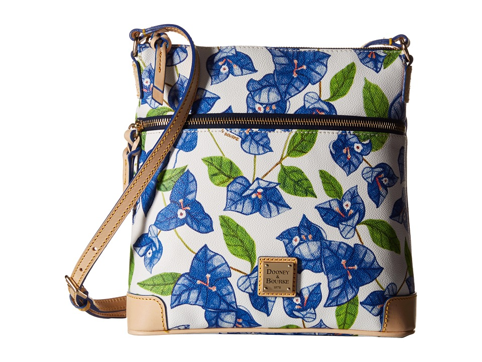 Dooney & Bourke - Bougainvillea Crossbody (Blue w/ Natural Trim) Cross Body Handbags