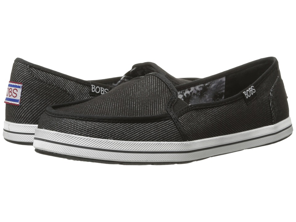 BOBS from SKECHERS Bobs Flexy Spring Back (Black) Women