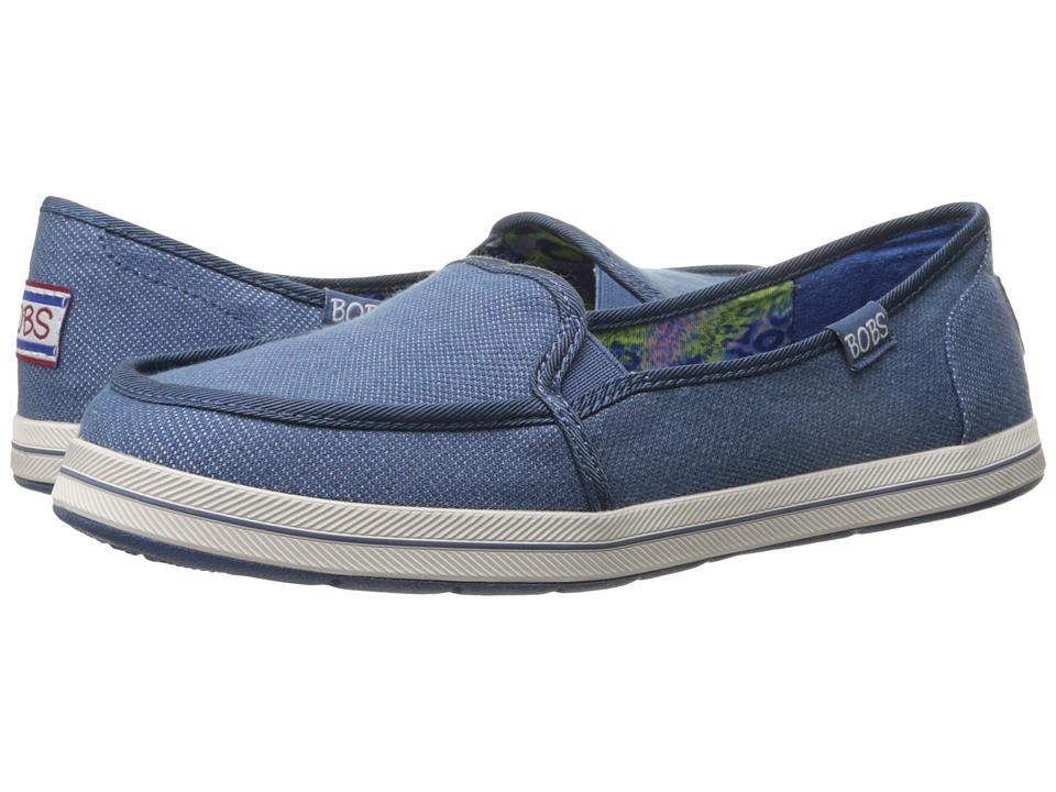 BOBS from SKECHERS - Bobs Flexy - Spring Back (Denim) Women's Slip on Shoes