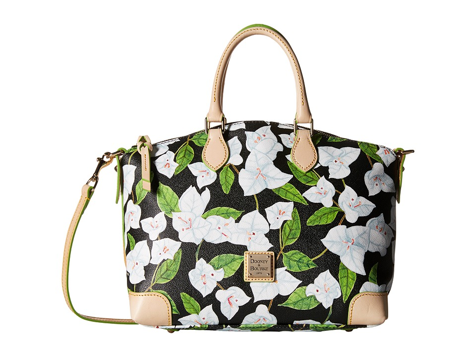 Dooney & Bourke - Bougainvillea Satchel (Black w/ Natural Trim) Satchel Handbags