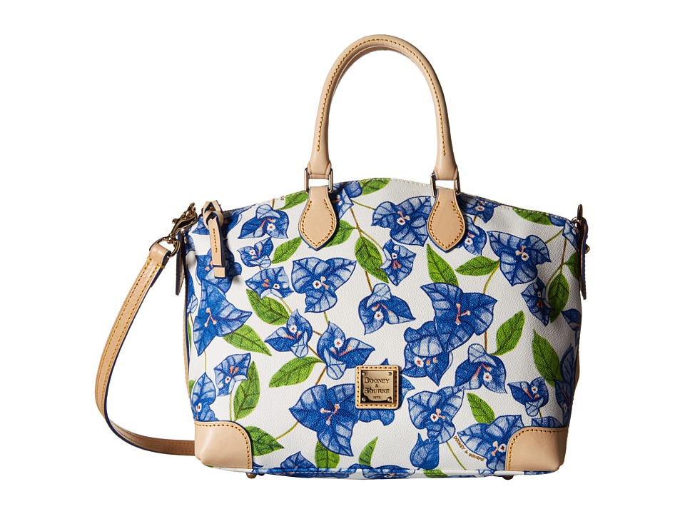 Dooney & Bourke - Bougainvillea Satchel (Blue w/ Natural Trim) Satchel Handbags