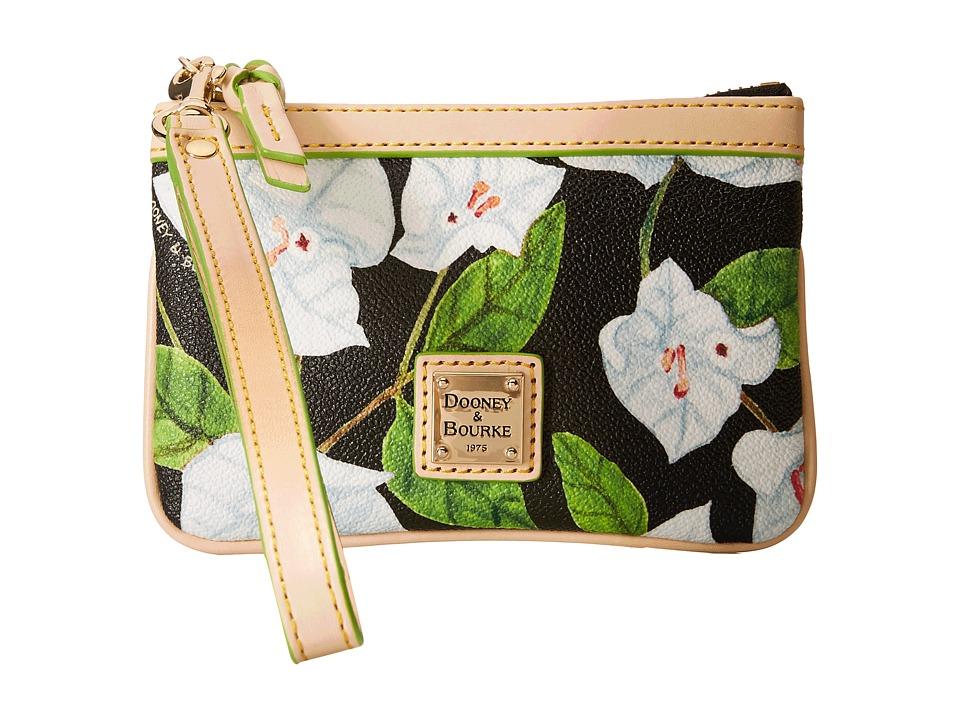 Dooney & Bourke - Bougainvillea Medium Wristlet (Black w/ Natural Trim) Wristlet Handbags