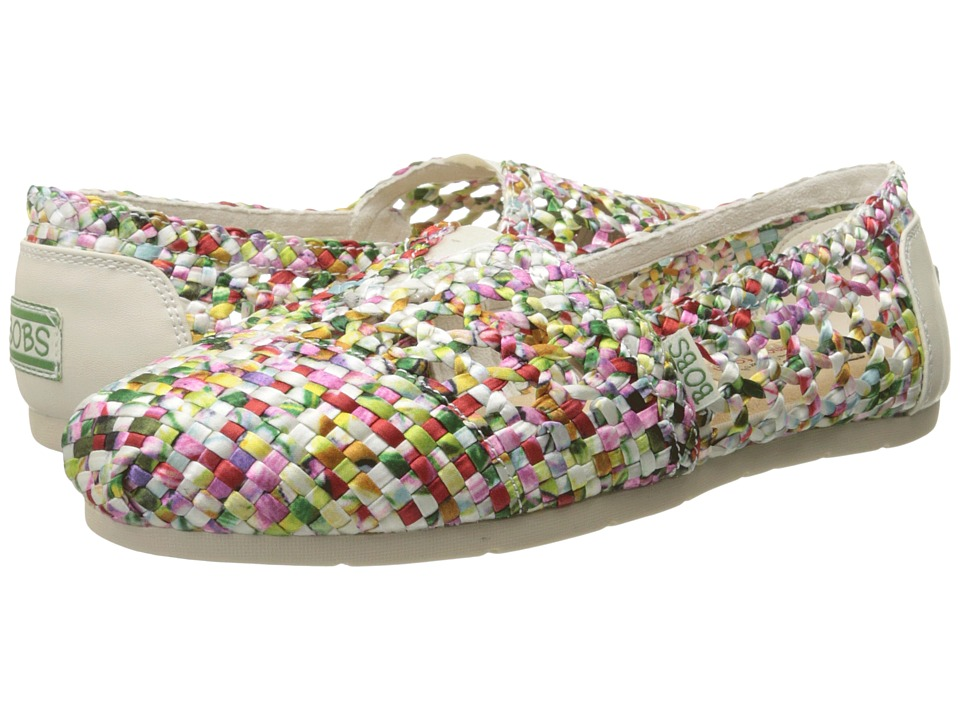 BOBS from SKECHERS - Luxe Bobs - Fresh Cut (White/Multi) Women's Slip on Shoes