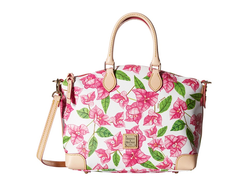 Dooney & Bourke - Bougainvillea Satchel (Fuchsia w/ Natural Trim) Satchel Handbags