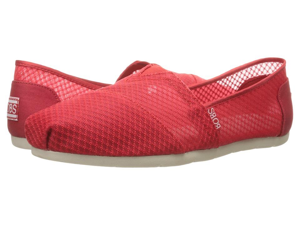 BOBS from SKECHERS - Luxe Bobs - Star Gazer (Red) Women's Shoes