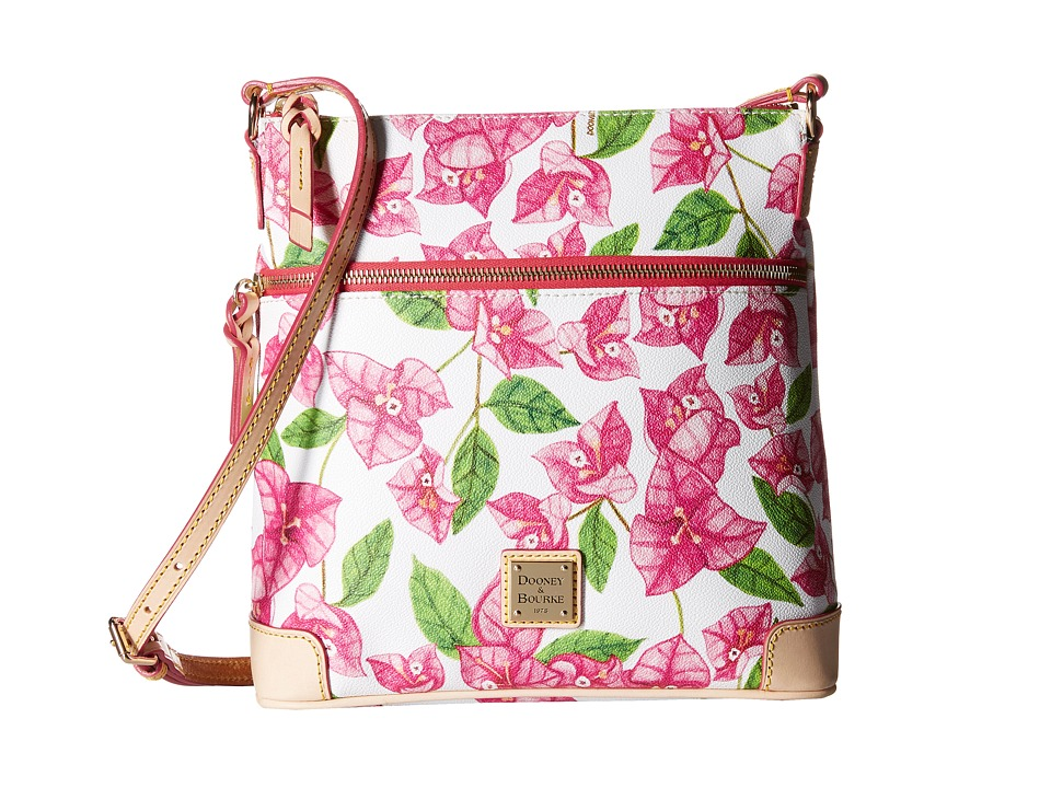 Dooney & Bourke - Bougainvillea Crossbody (Fuchsia w/ Natural Trim) Cross Body Handbags