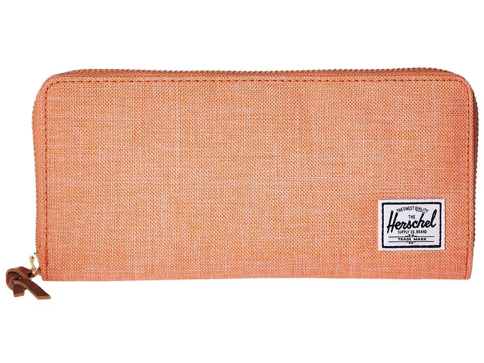 Herschel Supply Co. - Avenue (Nectarine Crosshatch) Wallet Handbags
