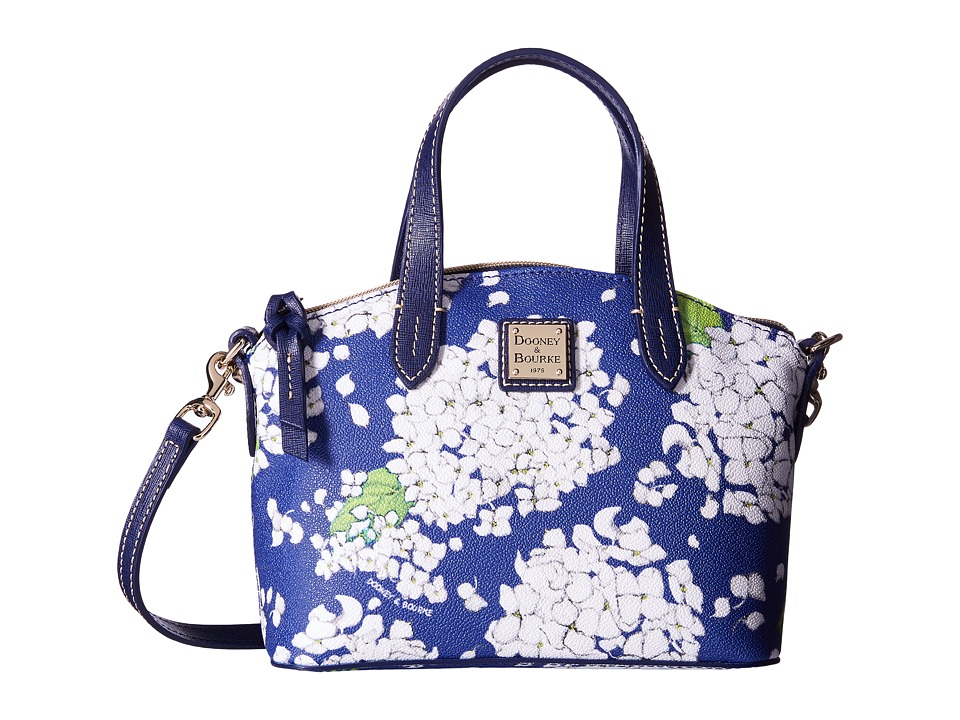 Dooney & Bourke - Ruby Bag Hydrangea (White w/ Marine Trim) Handbags
