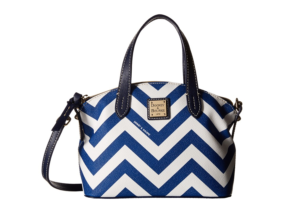 Dooney & Bourke - Ruby Bag Chevron (Navy w/ Marine Trim) Handbags