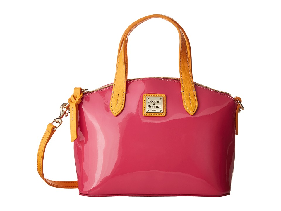 Dooney & Bourke - Ruby Bag Patent (Fuchsia w/ Melon Trim) Handbags