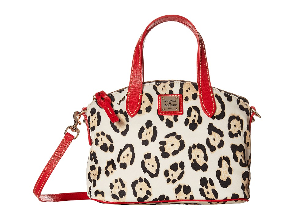 Dooney & Bourke - Ruby Bag Nylon Animal (Leopard w/ Red Trim) Handbags