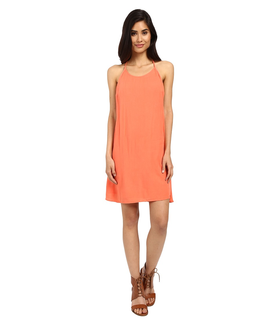 Roxy - Passing Sky Solid Dress (Living Coral) Women's Dress