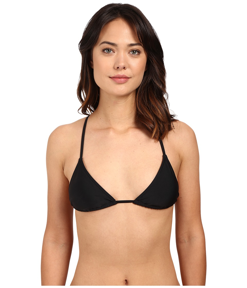 RVCA - Smoke Show Triangle Top (Black) Women's Swimwear