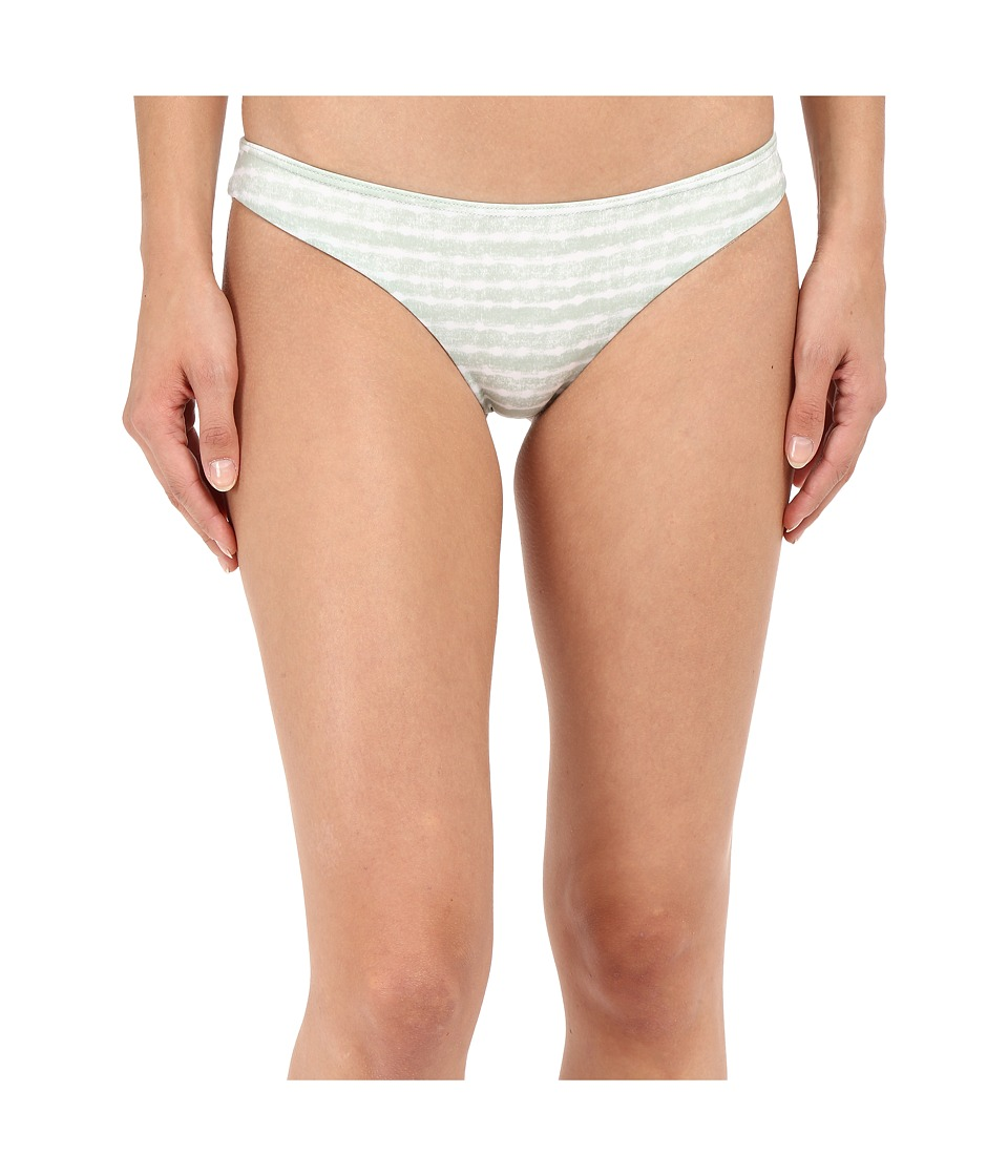 RVCA - Harmonic Stripe Cheeky Bottoms (Cool Mint) Women's Swimwear