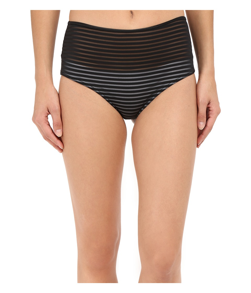 RVCA - Misty Flora Cheeky Bottoms (Black) Women's Swimwear