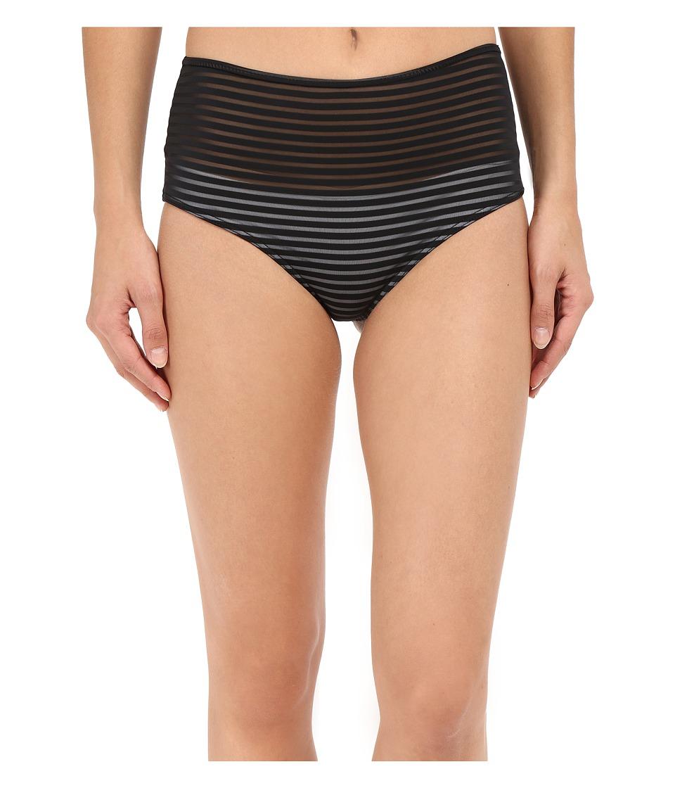 RVCA - Misty Flora Cheeky Bottoms (Black) Women's Swimwear