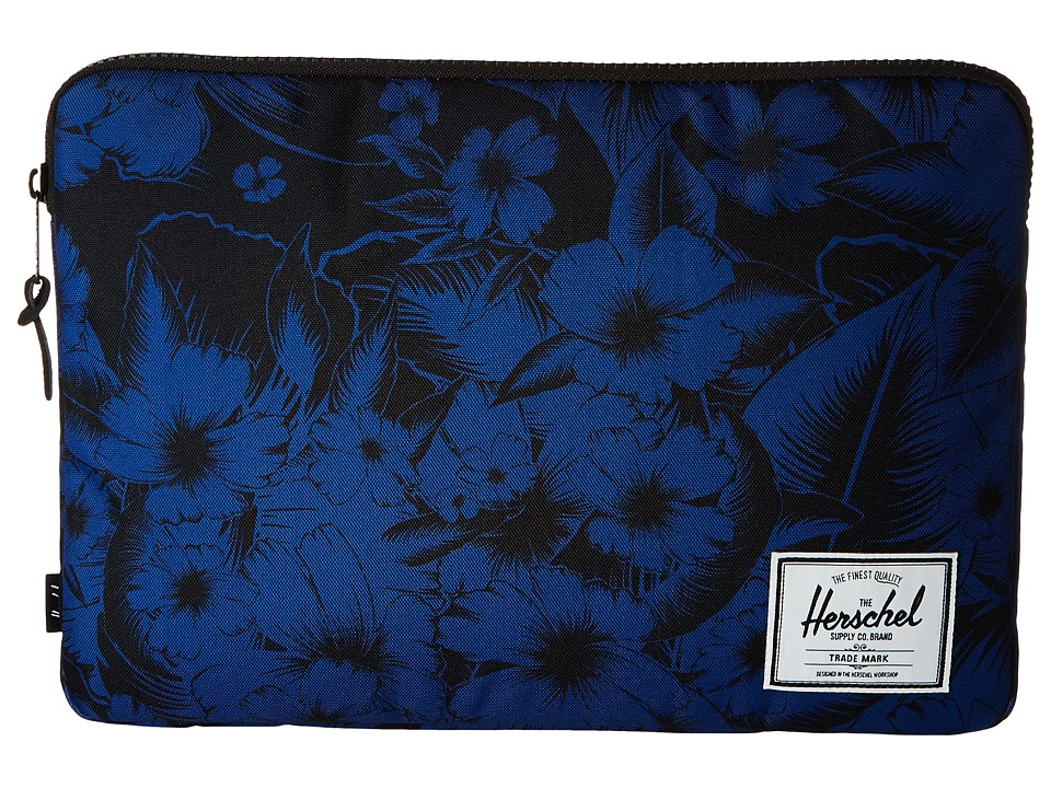 Herschel Supply Co. - Anchor Sleeve 15 (Jungle Floral Blue) Computer Bags
