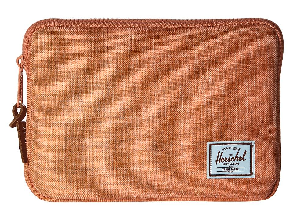 Herschel Supply Co. - Anchor Sleeve for iPad Mini (Nectarine Crosshatch) Computer Bags