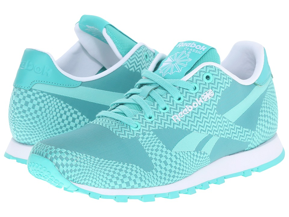 Reebok Lifestyle - Classic Runner Summer Brights (Emerald Sea/Emerald Haze/White) Women's Classic Shoes