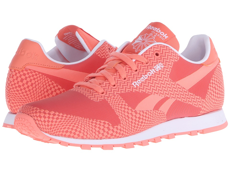 Reebok Lifestyle - Classic Runner Summer Brights (Coral/Rosette/White) Women's Classic Shoes