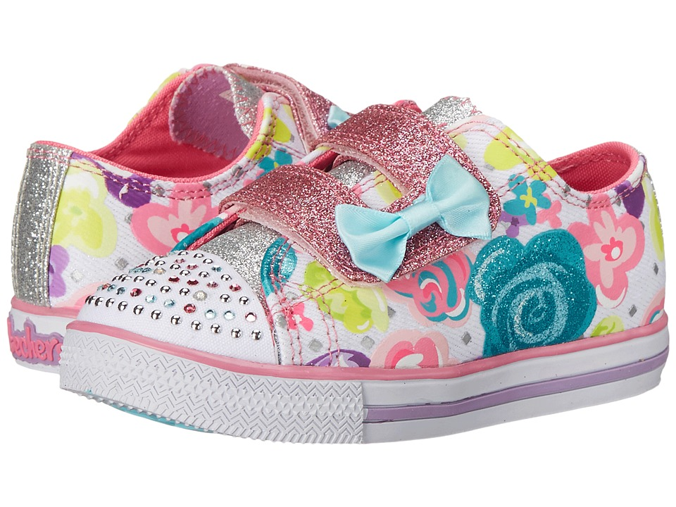 SKECHERS KIDS - Twinkle Toes - Chit Chat 10625N (Toddler/Little Kid) (White/Multi) Girl's Shoes