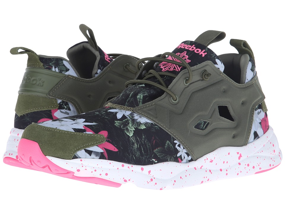 Reebok Lifestyle - Furylite NP (Canopy Green/White/Solar Pink) Men's Shoes