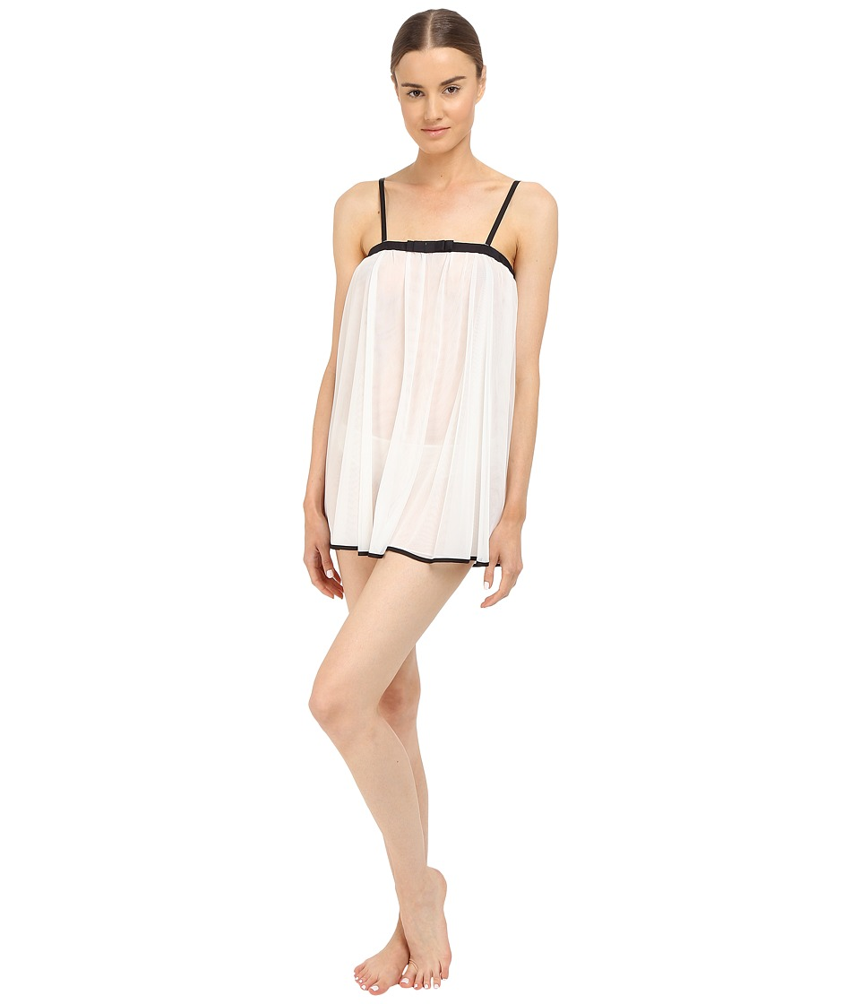 Kate Spade New York - Tricot Babydoll w/ Matching Panty (Off-White) Women's Lingerie