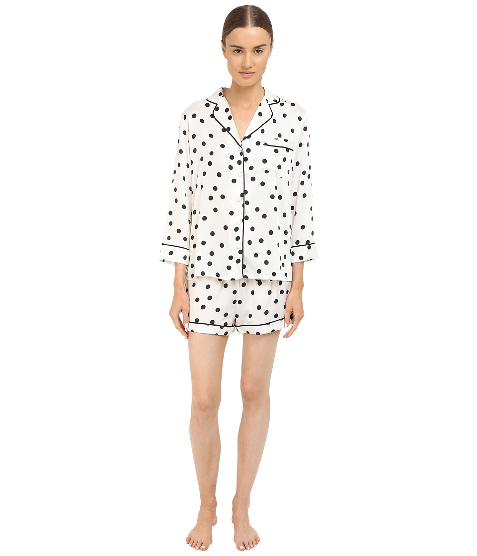 Kate Spade New York - Charmeuse Shorts PJ (Shadow Dot) Women's Pajama Sets