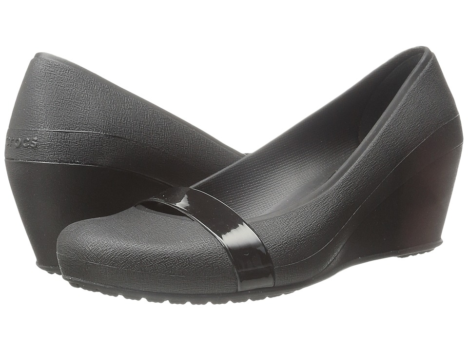 Crocs - Crocs Brynn Wedge (Black/Black) Women