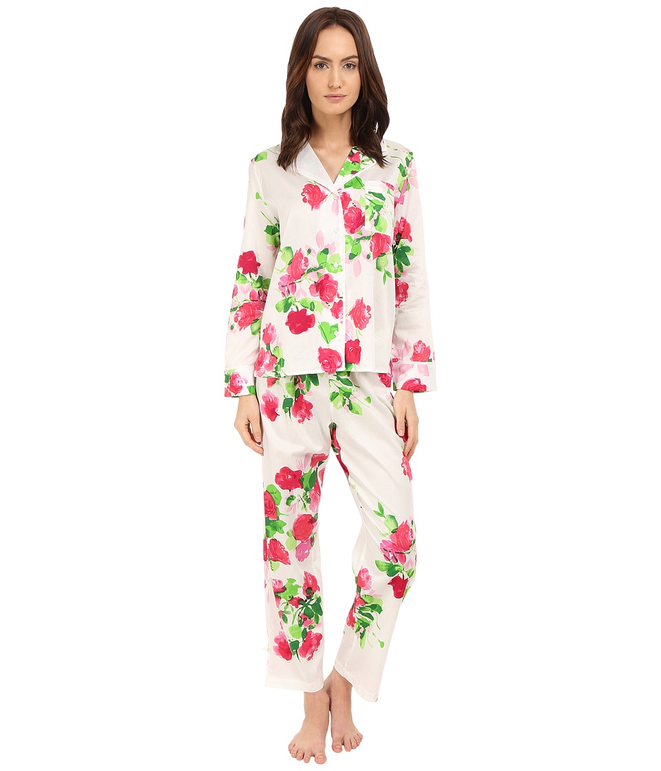 Kate Spade New York - Sateen Ankle PJ (Floral) Women's Pajama Sets