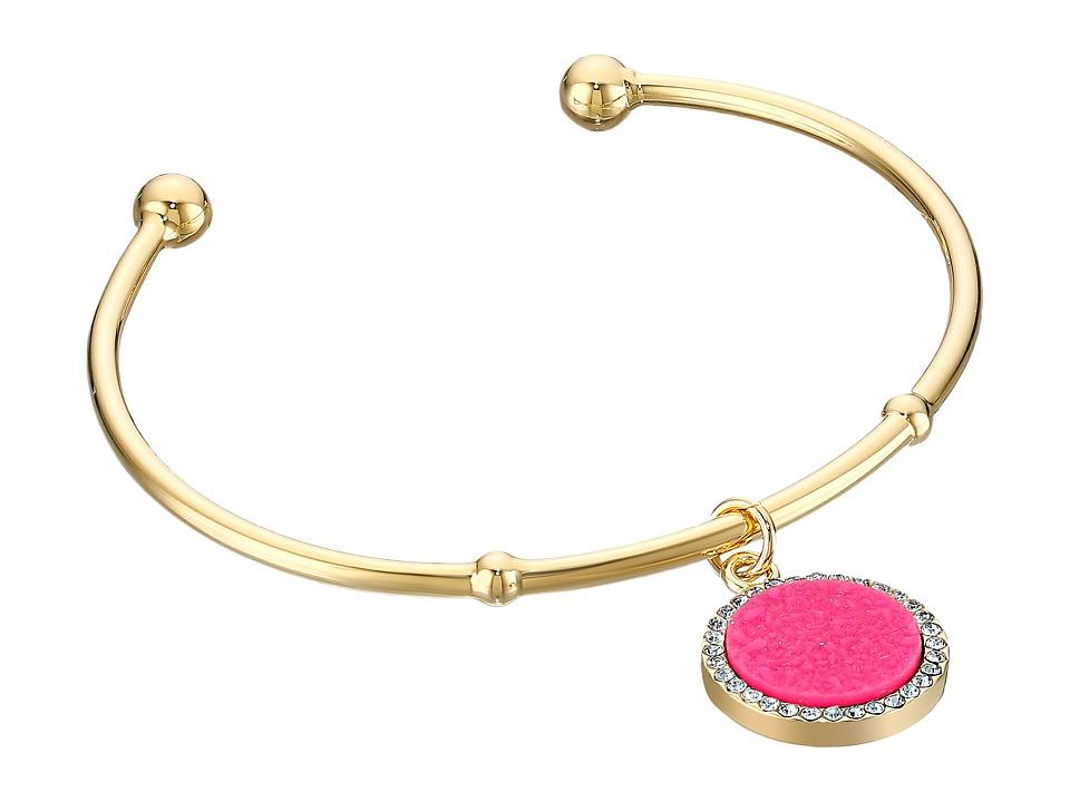 Kate Spade New York - All That Glitters Druzy Cuff Bracelet (Hot Pink) Bracelet