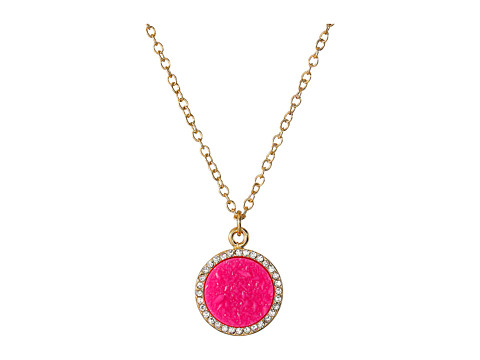 Kate Spade New York - All That Glitters Druzy Pendant Necklace (Hot Pink) Necklace