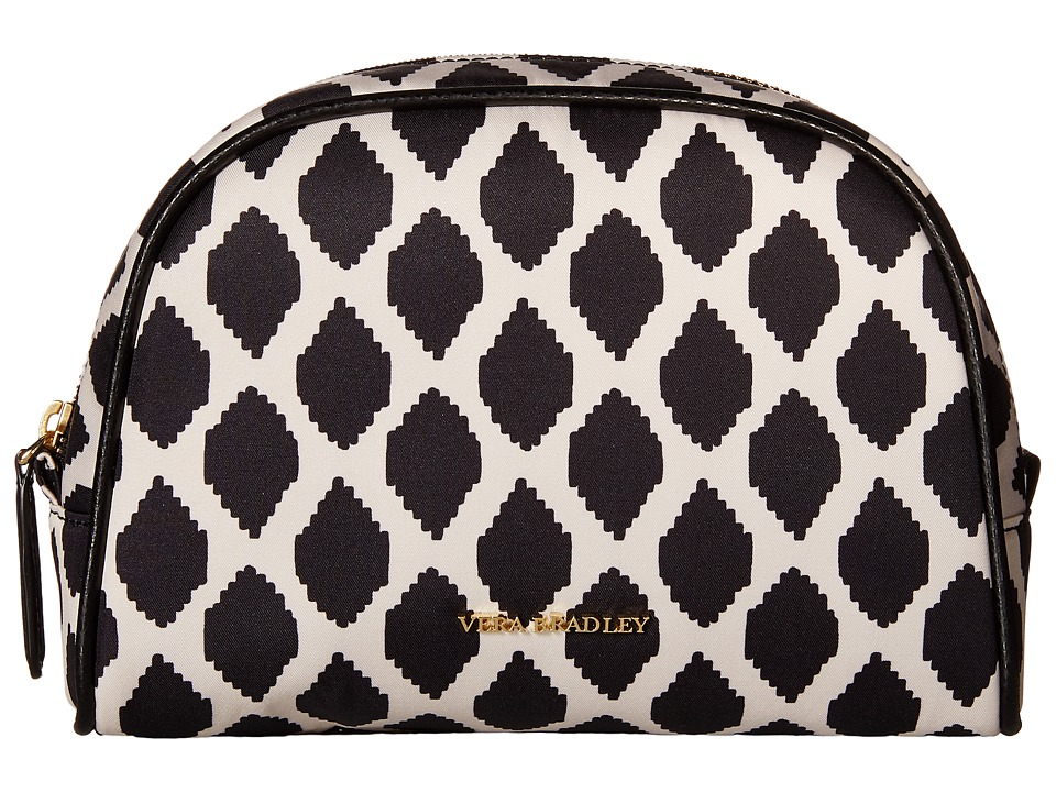 Vera Bradley Luggage - Medium Zip Cosmetic (Ikat Spots/Black) Cosmetic Case