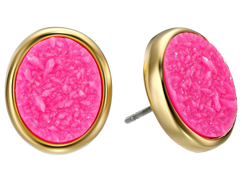 Kate Spade New York - All That Glitters Druzy Stud Earrings (Hot Pink) Earring