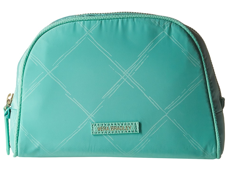 Vera Bradley - Preppy Poly Medium Cosmetic (Mint) Cosmetic Case