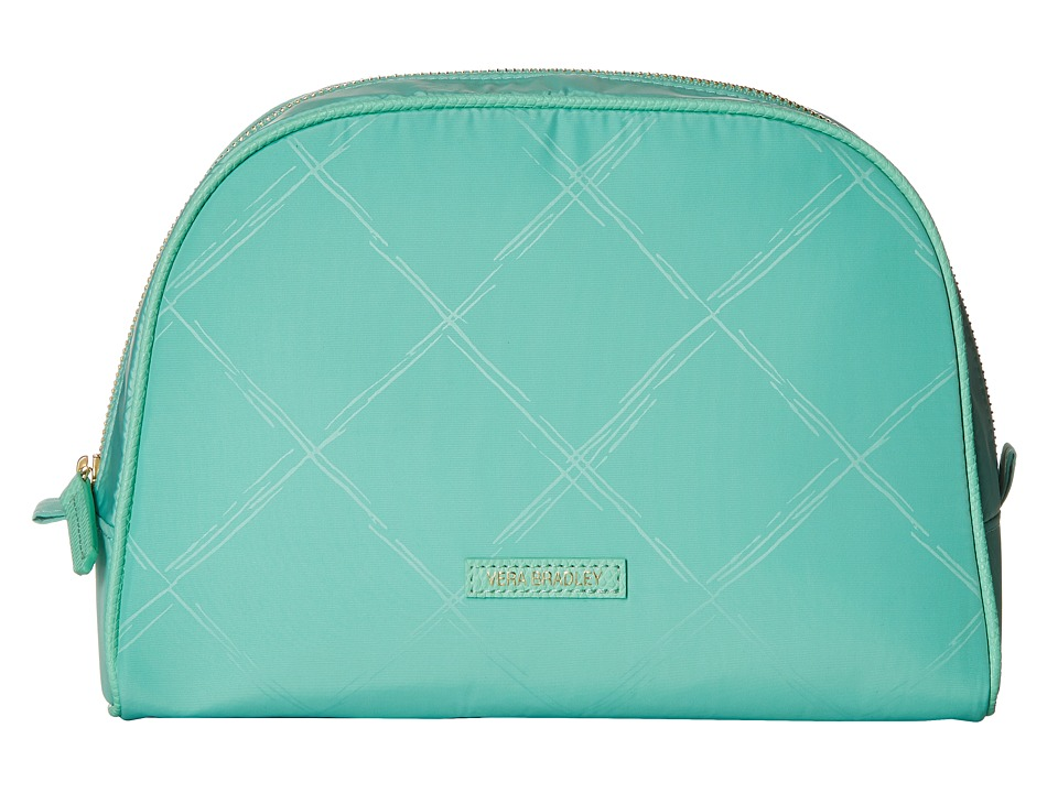 Vera Bradley Luggage - Preppy Poly Large Cosmetic (Mint) Cosmetic Case