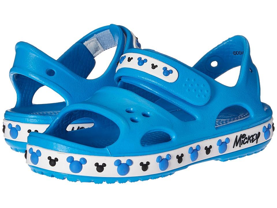 Crocs Kids - Crocband II Mickey Sandal (Toddler/Little Kid) (Ocean) Kids Shoes