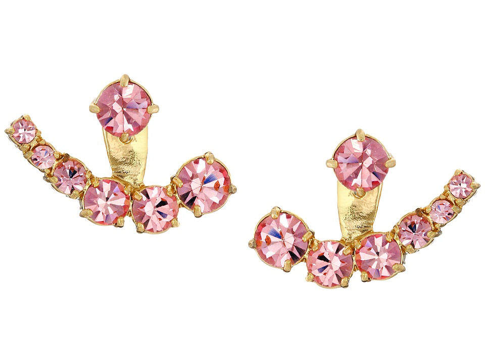 Kate Spade New York - Dainty Sparklers Ear Jacket (Light Rose) Earring