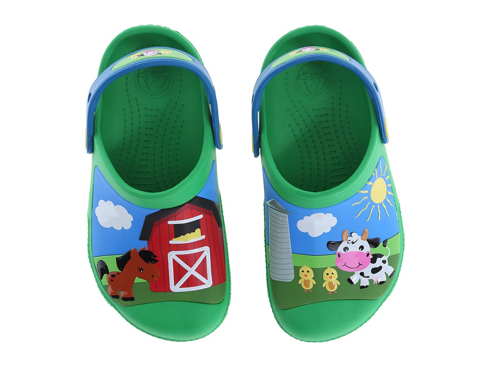 Crocs Kids - Creative Crocs Barnyard Clog (Toddler/Little Kid) (Green Grass) Kids Shoes