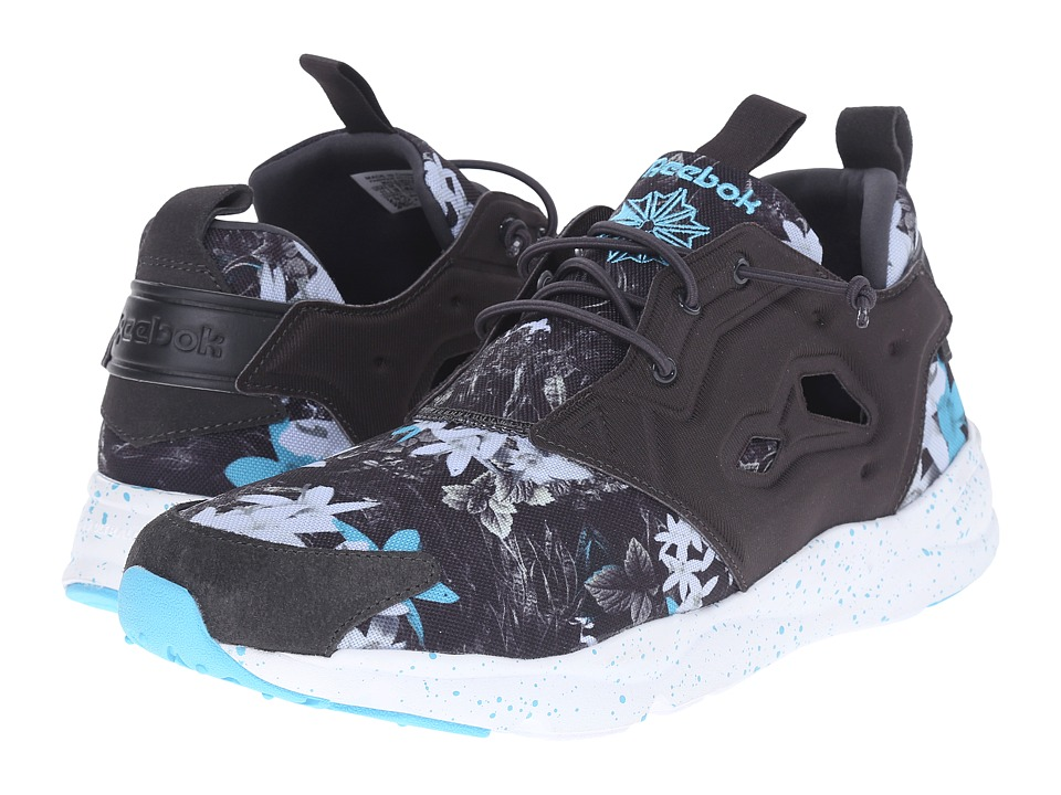 Reebok Lifestyle - Furylite NP (Coal/White/Neon Blue) Men's Shoes