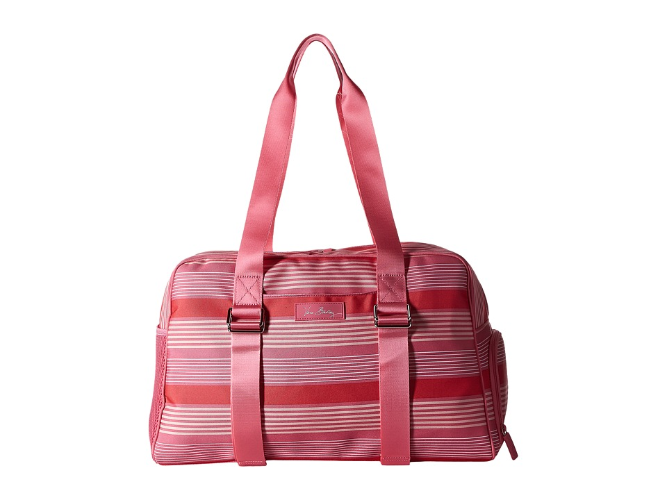 Vera Bradley Luggage - Lighten Up Yoga Sport Bag (Pink Tonal Stripe) Bags