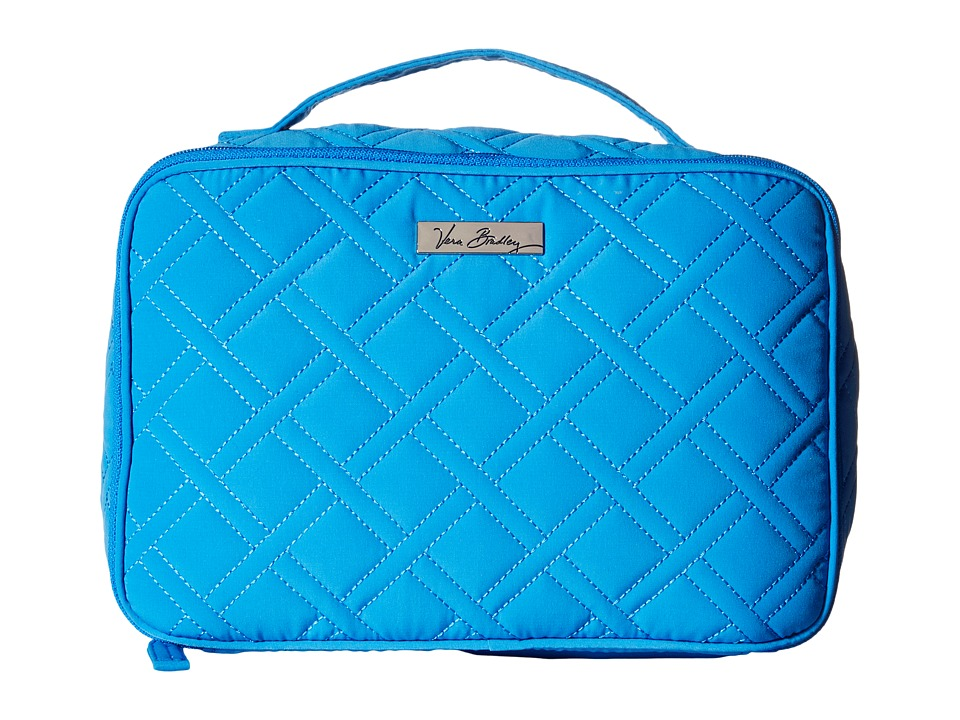 Vera Bradley Luggage - Large Blush Brush Makeup Case (Coastal Blue) Bags