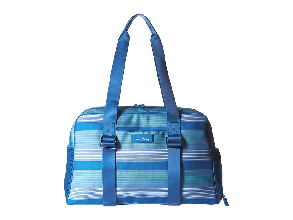 Vera Bradley Luggage - Lighten Up Yoga Sport Bag (Blue Tonal Stripe) Bags