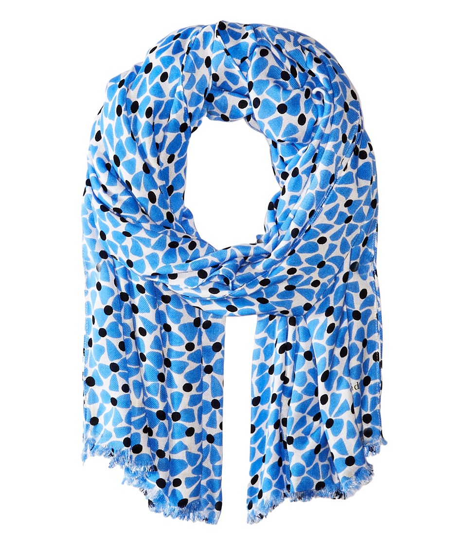 Kate Spade New York - Alice Bow Dot Oblong Scarf (Blue) Scarves