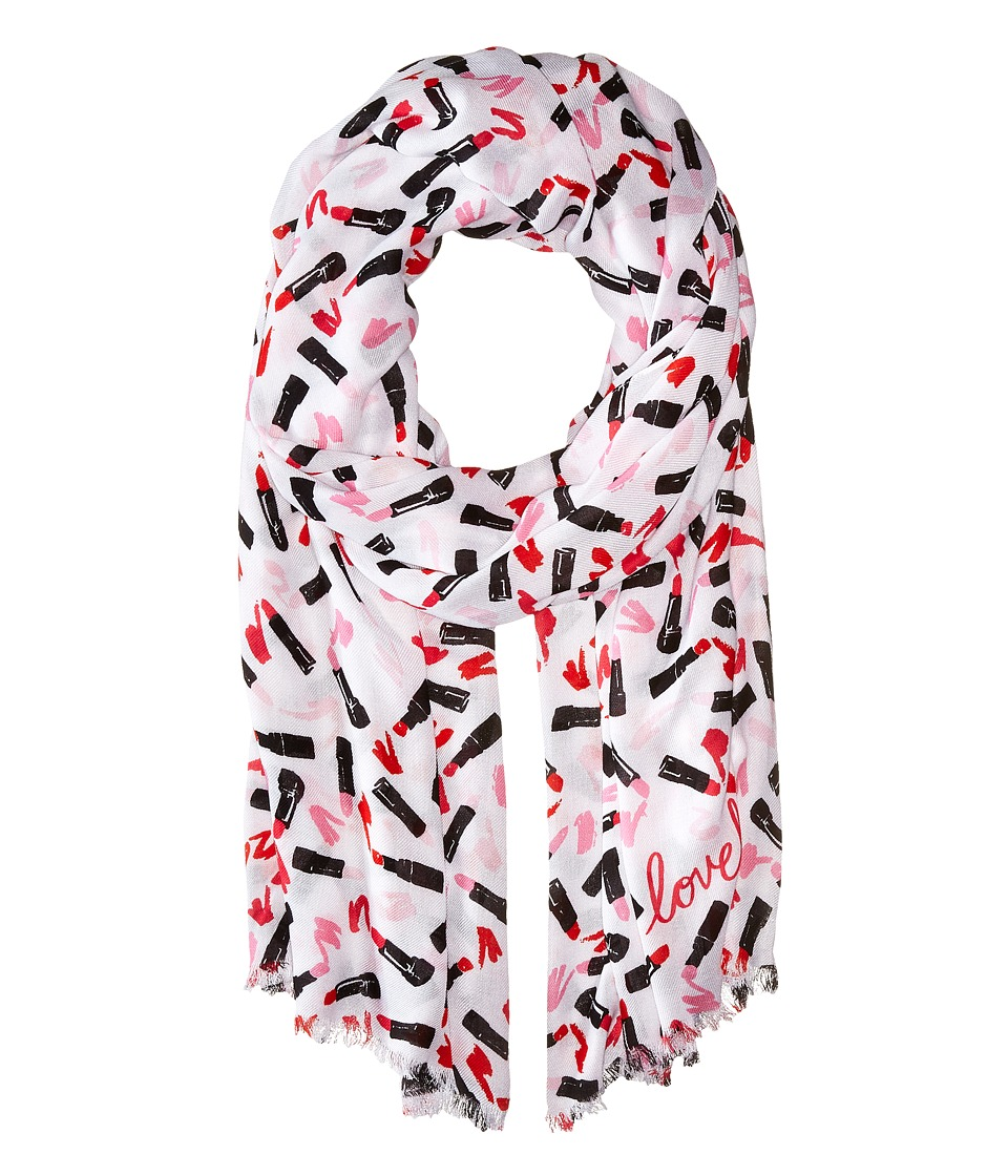 Kate Spade New York - Lipstick Palette Oblong Scarf (Cream) Scarves