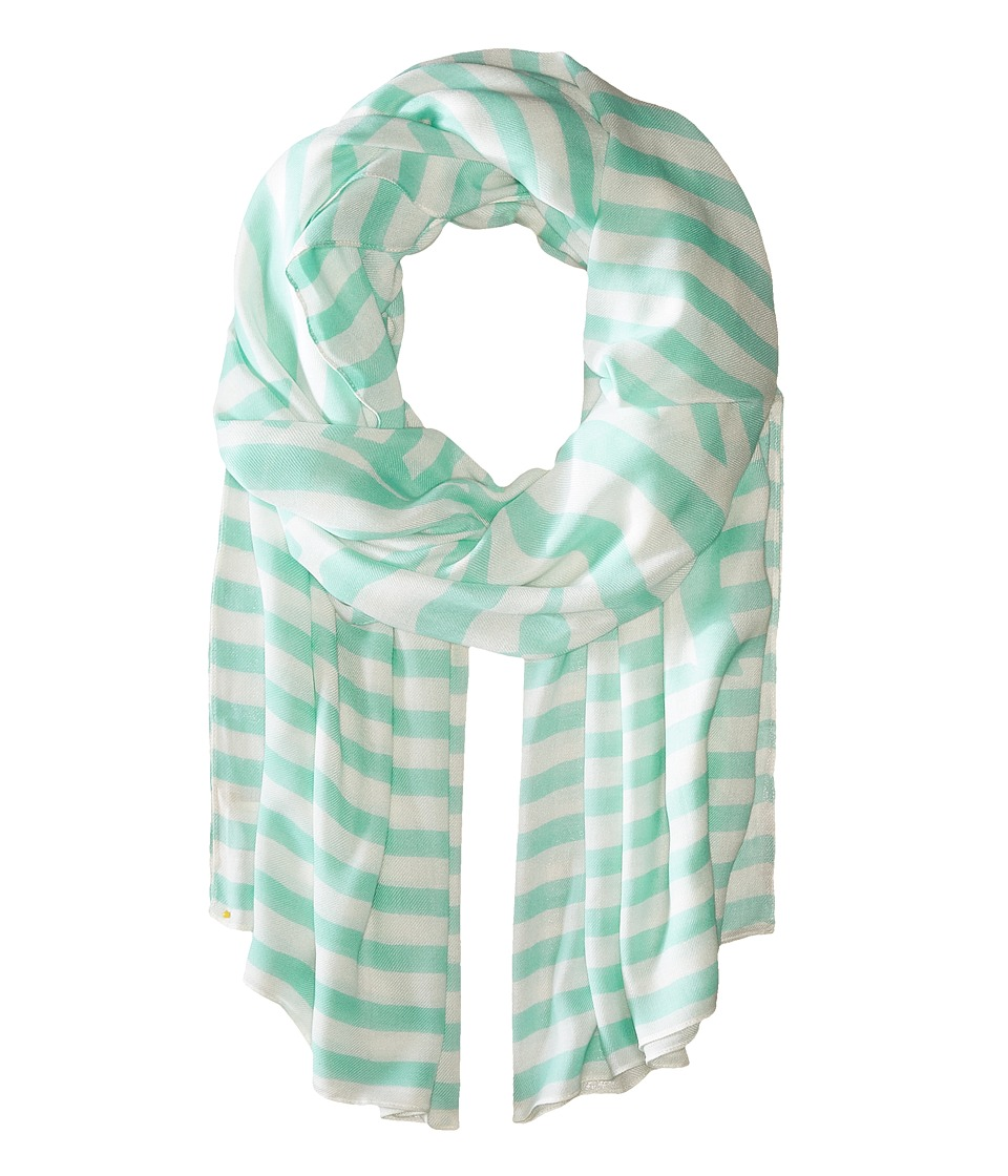 Kate Spade New York - Painterly Bow Oblong Scarf (Mint Liqueur) Scarves