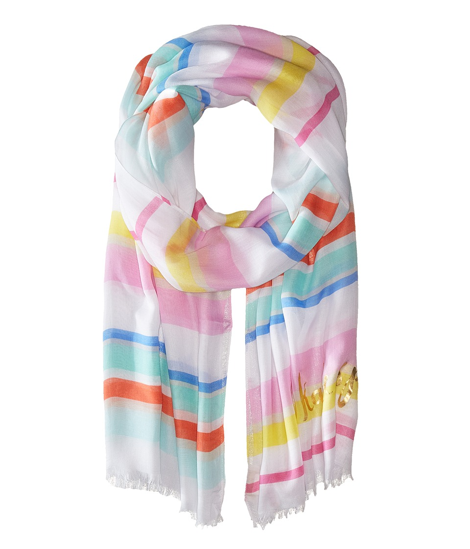 Kate Spade New York - Cape Stripe Oblong Scarf (Cape Stripe Multi/Cream) Scarves