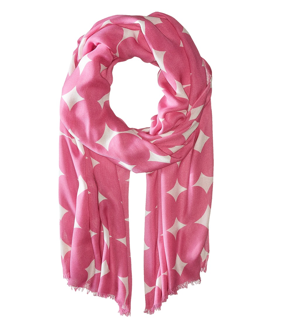 Kate Spade New York - Balloon Dot Oblong Scarf (Carousel Pink) Scarves