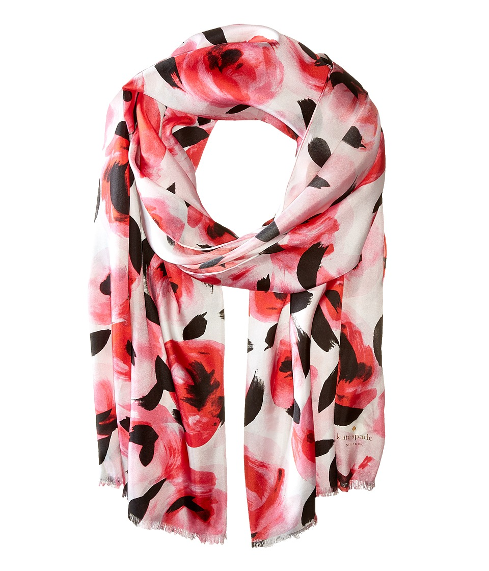 Kate Spade New York - Rosebud Oblong Scarf (Cream) Scarves